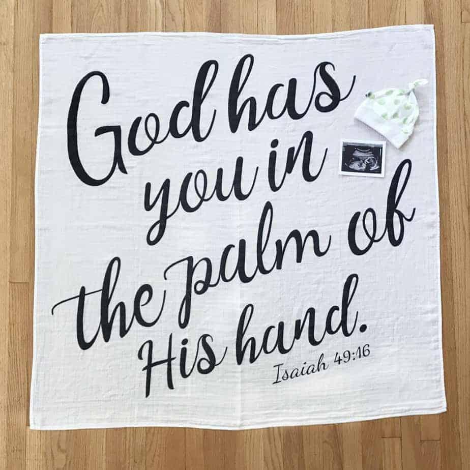 Christian Baby Gift Ideas - Newborn Infant Scripture Swaddle Blanket