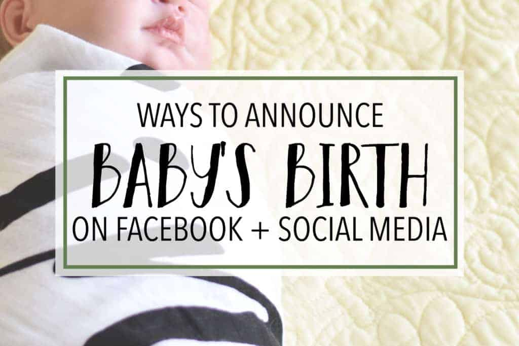 The Cutest Birth Announcements for Facebook - Social Media ...