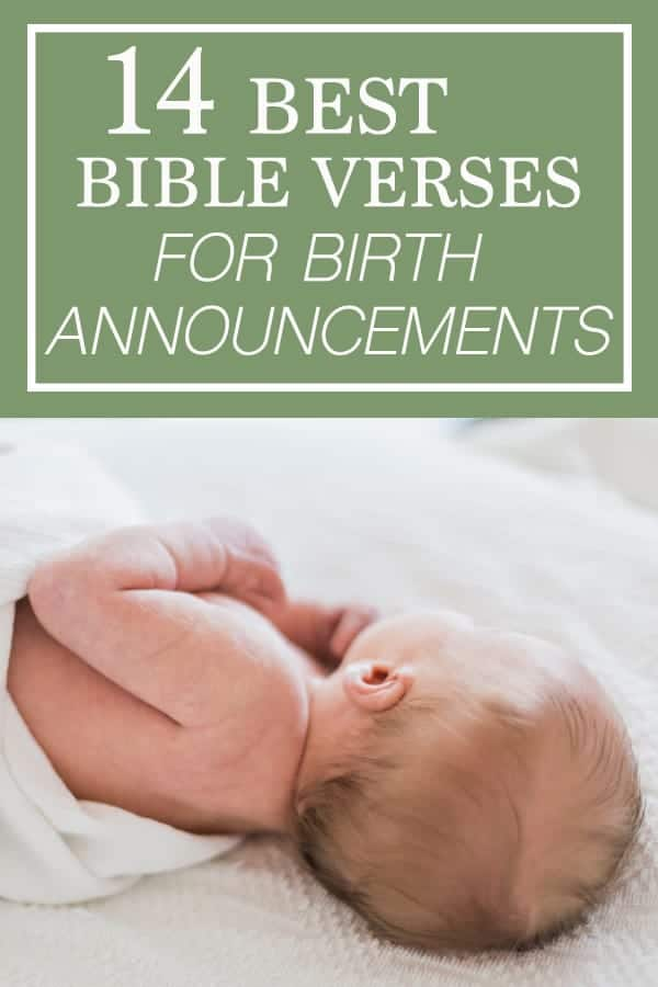 of the best bible verses for baby birth announcement card