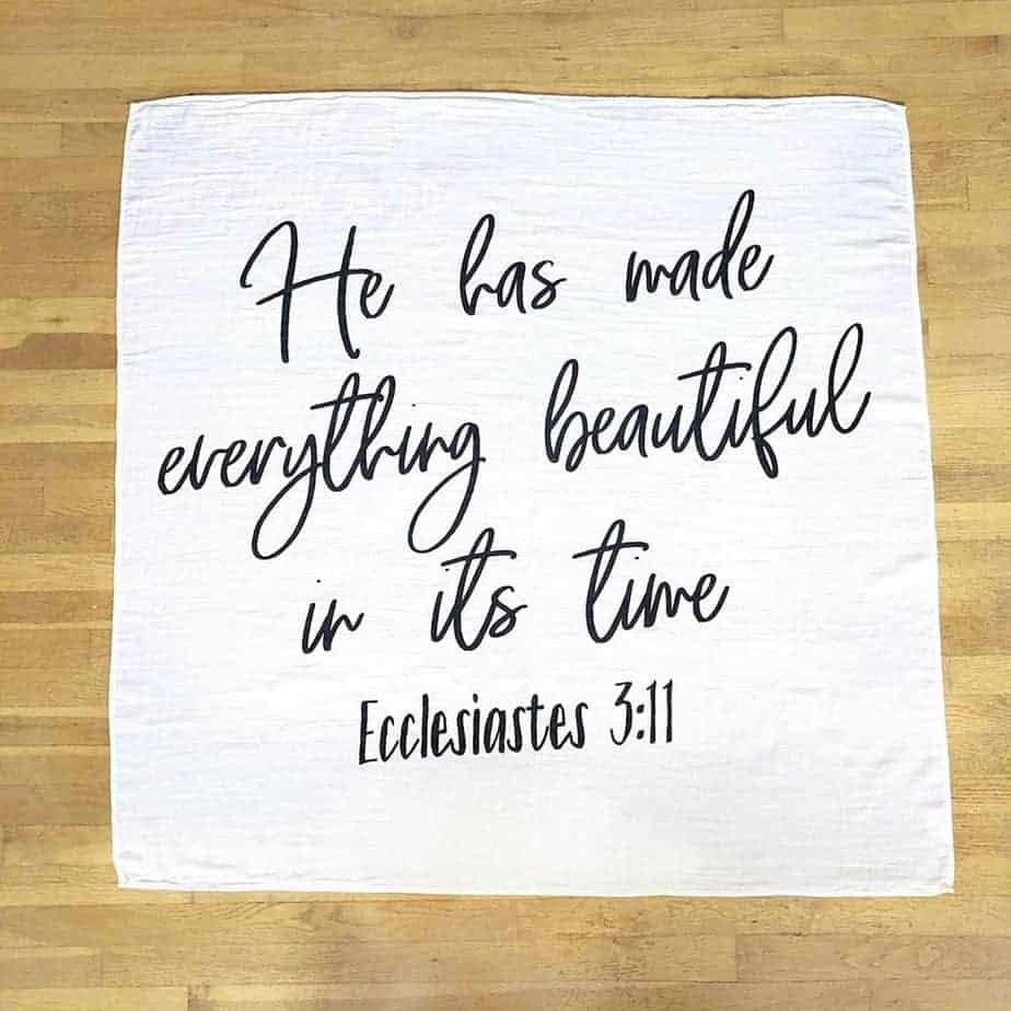 Ecclesiastes 3:11 Newborn Adoption Baby Swaddle