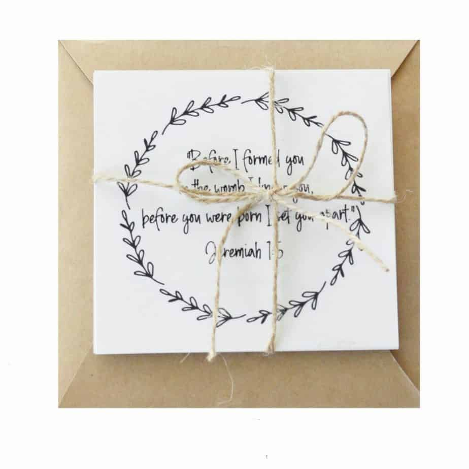 New Baby Bible Verse Cards