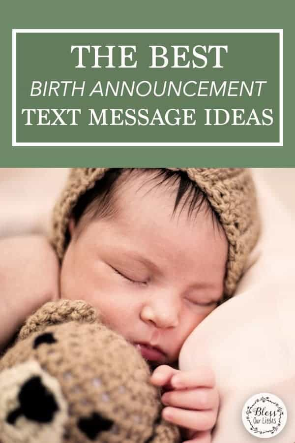 The Best baby Birth Announcement Text Message Ideas and Inspiration on pinterest