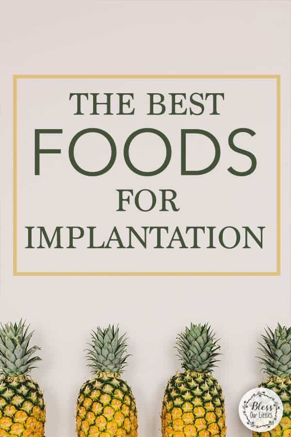 The Best foods for implantation