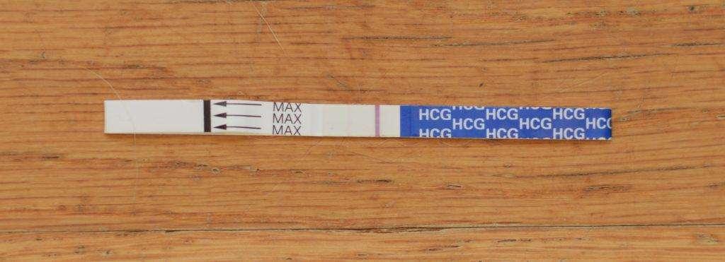 Faint Line Positive Pregnancy Test 10 DPO